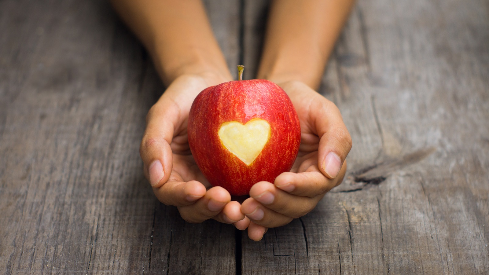 Apple physical therapy - Red Apple With Engraved Heart